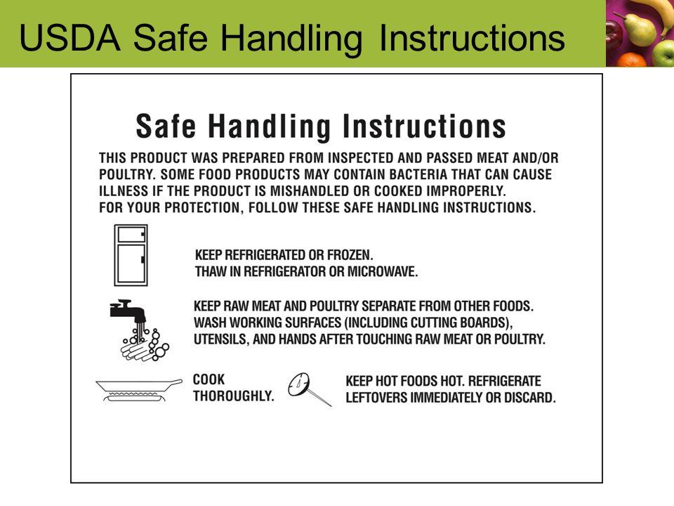 USDA Safe Handling Instructions