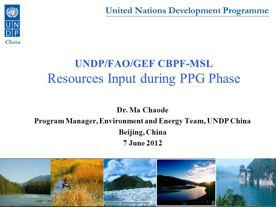 United Nations Development Programme China Outline 1.