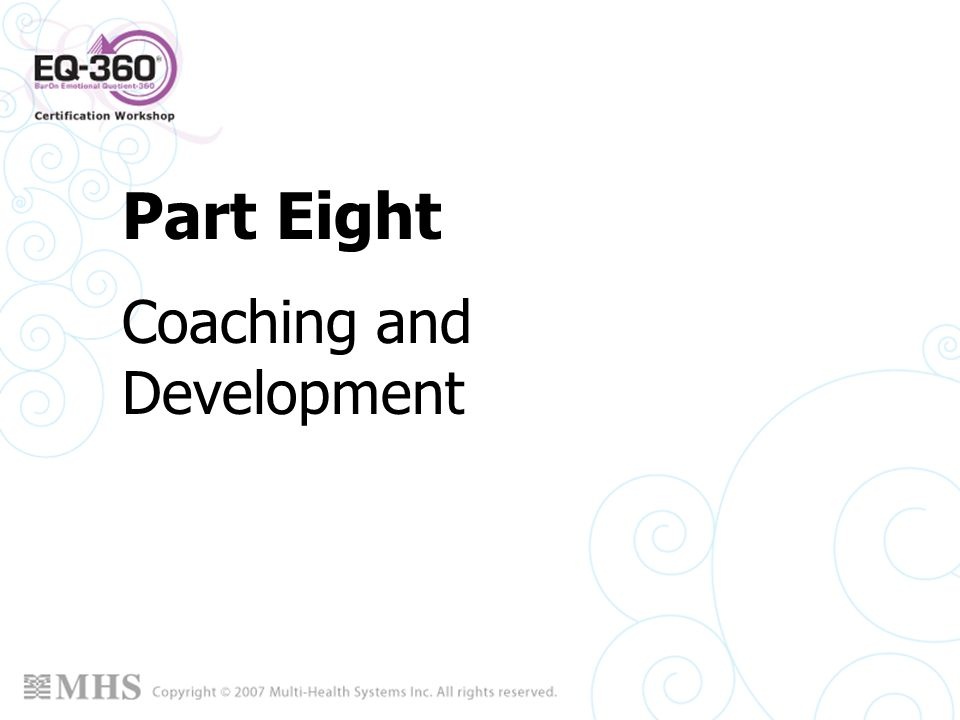 Part Eight Coaching and Development