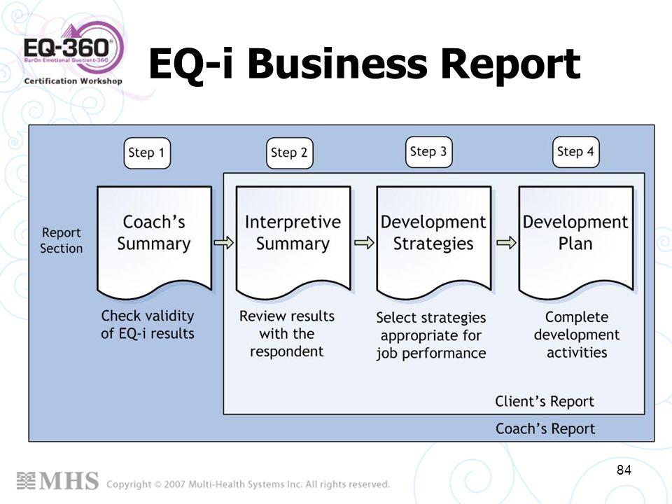 84 EQ-i Business Report