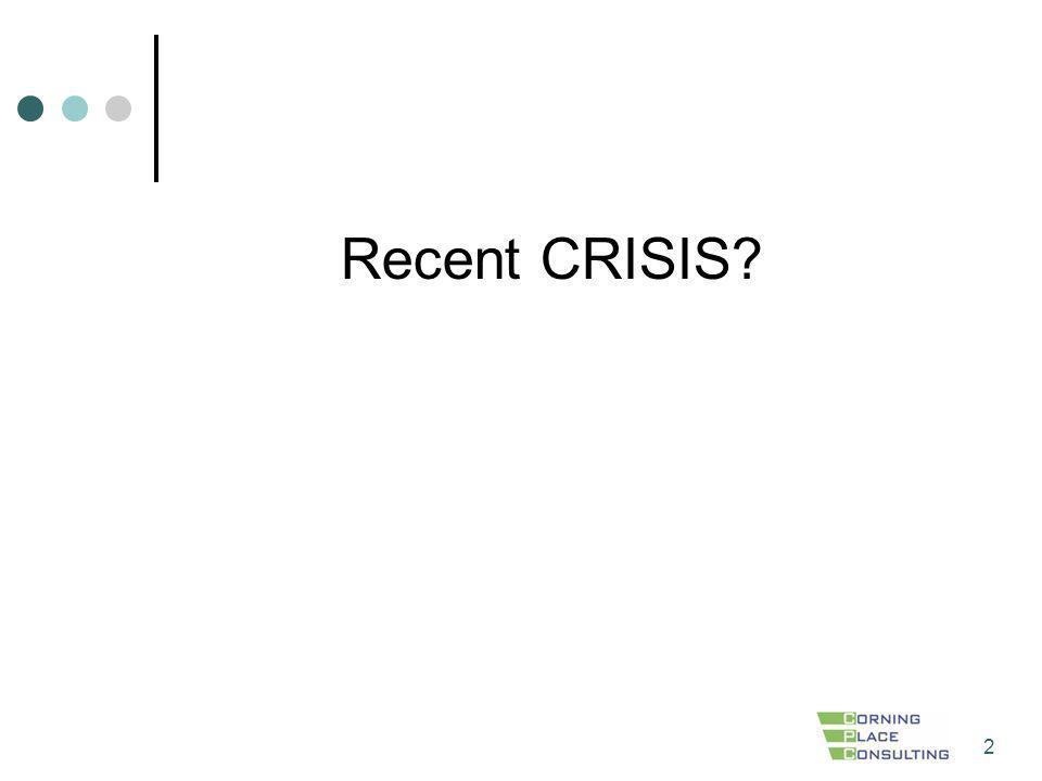 2 Recent CRISIS?
