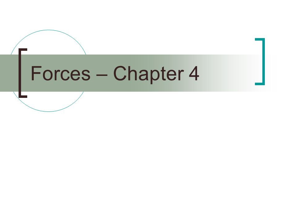 Forces – Chapter 4