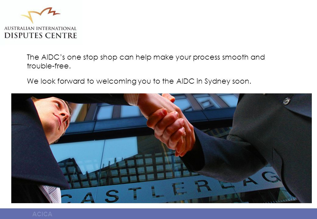 The AIDCs one stop shop can help make your process smooth and trouble-free. We look forward to welcoming you to the AIDC in Sydney soon.
