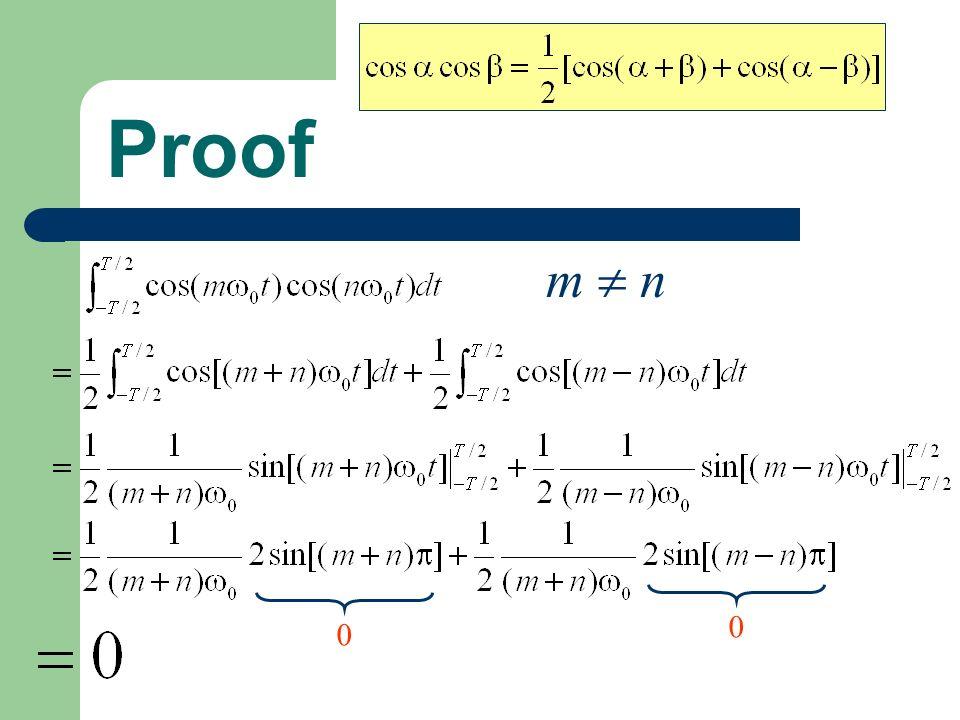 Proof 0 m n 0