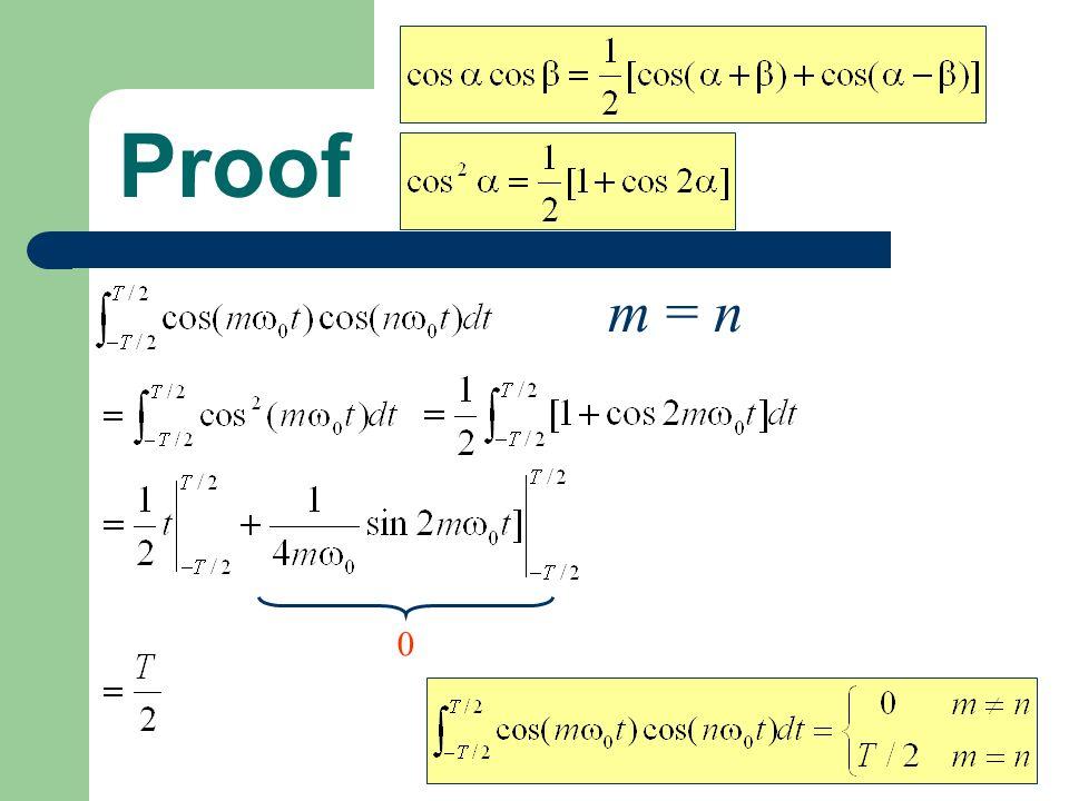 Proof 0 m = n