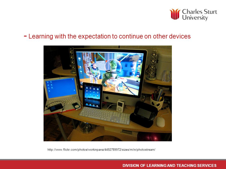 DO NOT PLACE ANY TEXT OR GRAPHICS ABOVE THE GUIDELINE SHOWN DO NOT PLACE ANY TEXT OR GRAPHICS BELOW THE GUIDELINE SHOWN TO EDIT GRAPHICS IN THE MASTER SELECT: VIEW > SLIDE MASTER TO APPLY PAGE STYLES RIGHT CLICK YOUR PAGE >LAYOUT DIVISION OF LEARNING AND TEACHING SERVICES TO EDIT THE FOOTER IN THE MASTER SELECT: VIEW > SLIDE MASTER - Tablets, and particularly the iPad, has accelerated the growth and demand for mobile learning http://www.flickr.com/photos/smemon/5171518129/sizes/m/in/photostream/