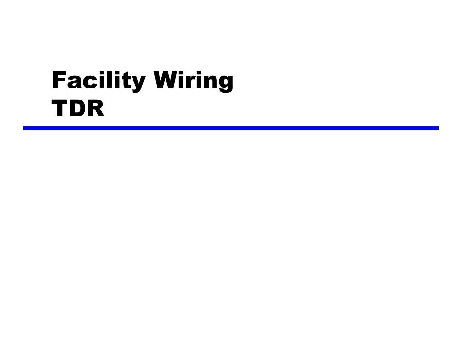 Facility Wiring TDR