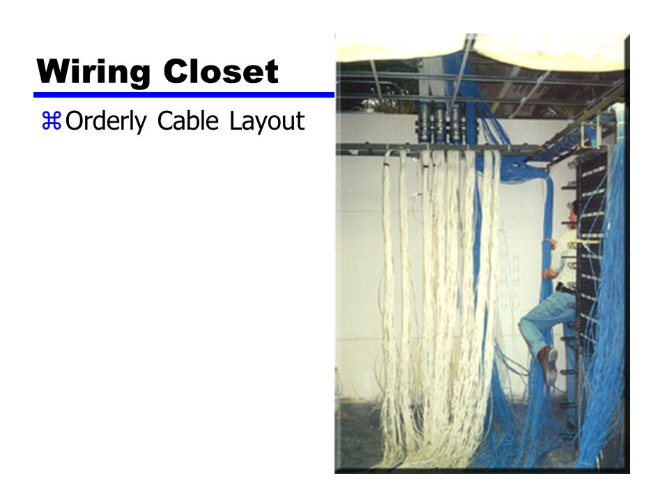 Wiring Closet zOrderly Cable Layout