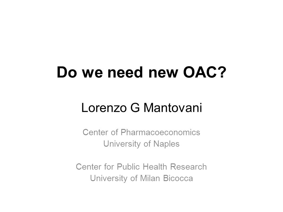 Do we need new OAC.