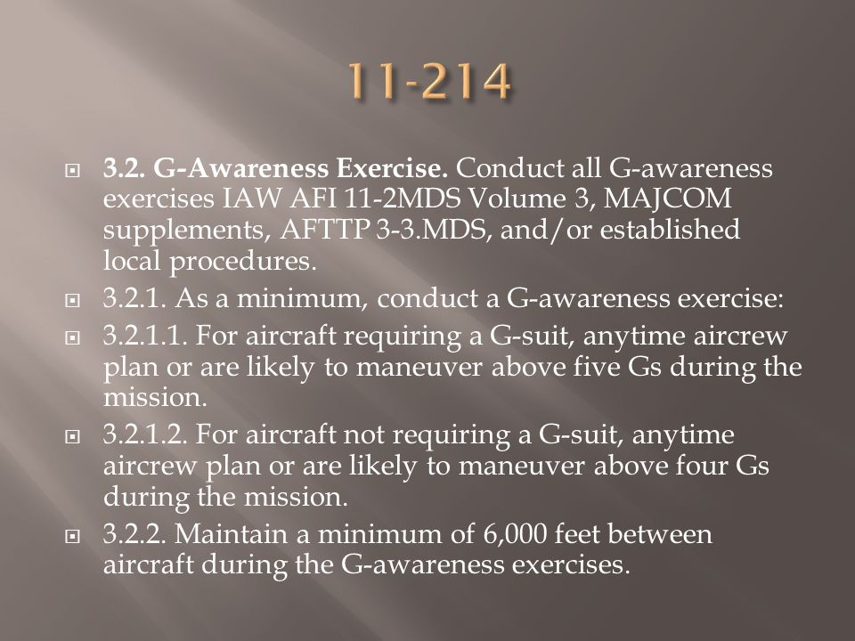 3.2. G-Awareness Exercise.
