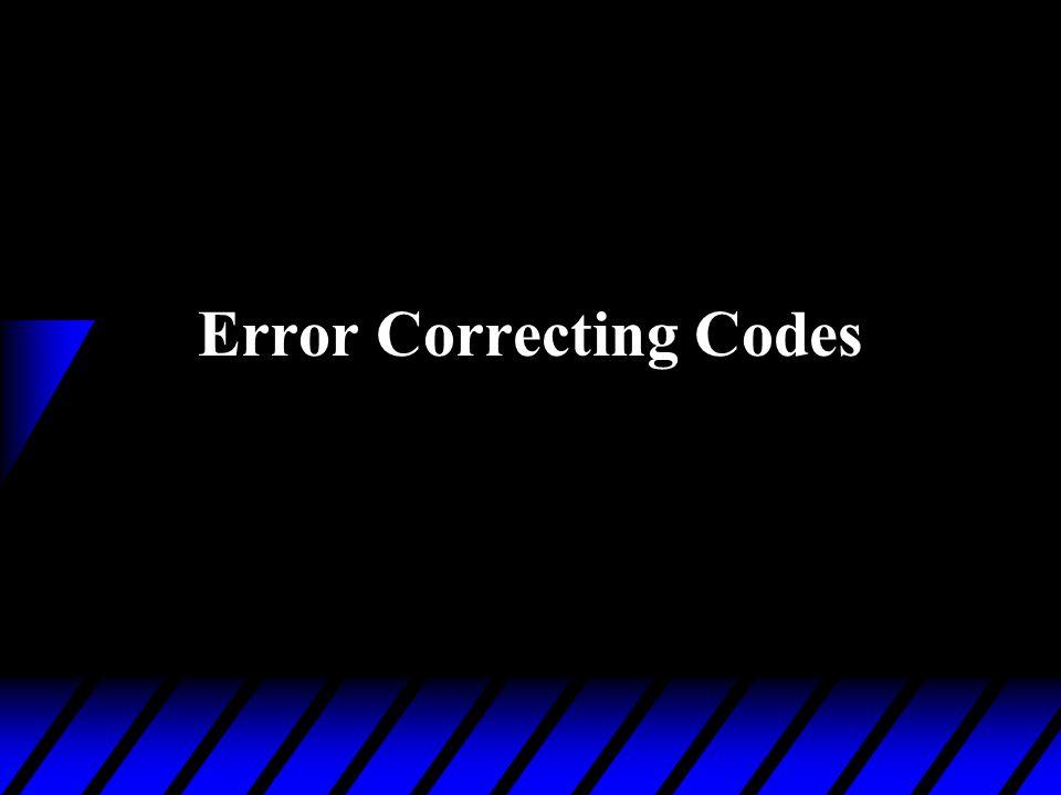 Error Correcting Codes