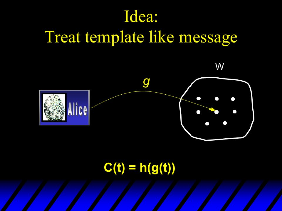 Idea: Treat template like message W g C(t) = h(g(t))