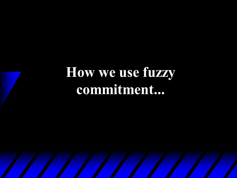 How we use fuzzy commitment...