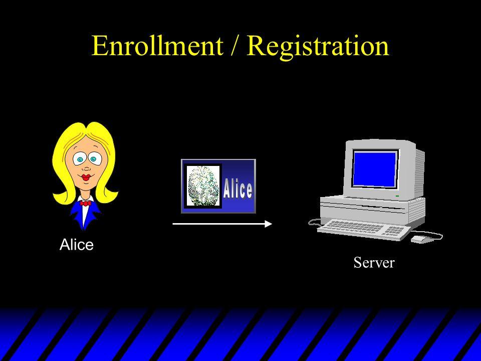 Enrollment / Registration Alice Server