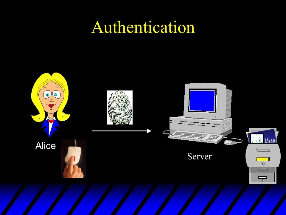 Authentication Alice Server