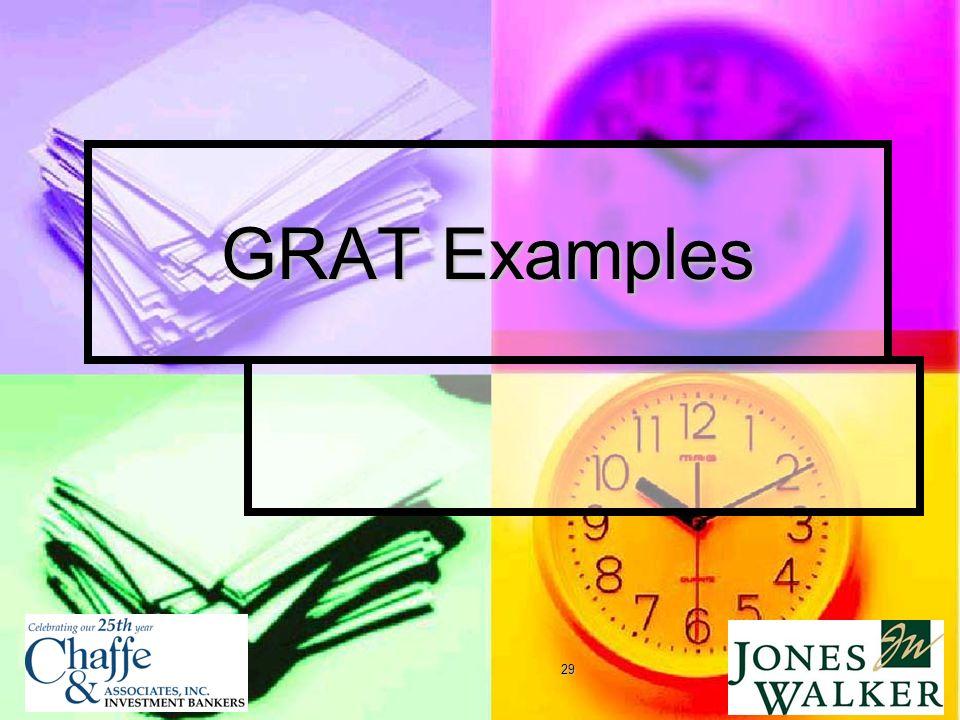 29 GRAT Examples