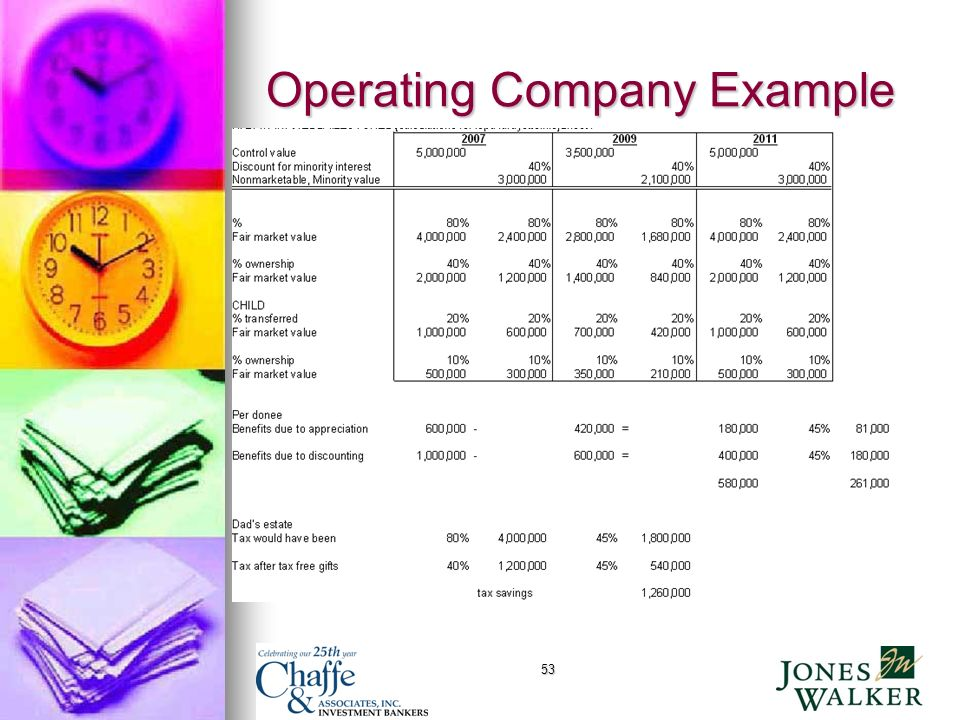 53 Operating Company Example
