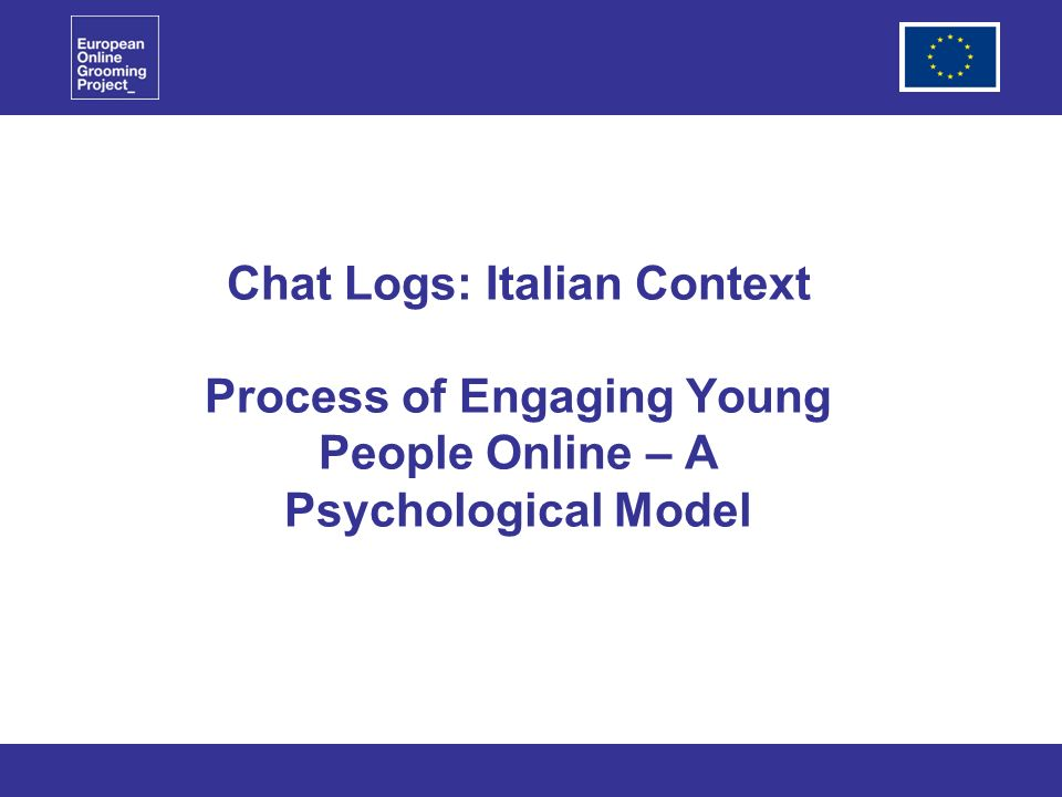 Chat Logs: Italian Context Process of Engaging Young People Online – A Psychological Model