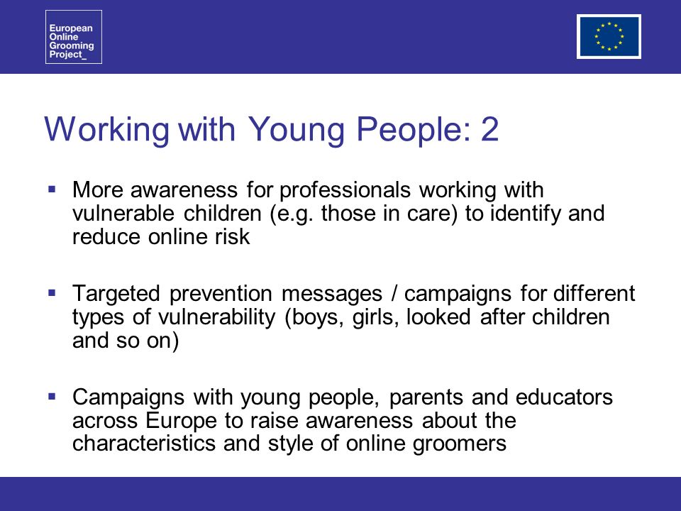 Working with Young People: 2 More awareness for professionals working with vulnerable children (e.g.