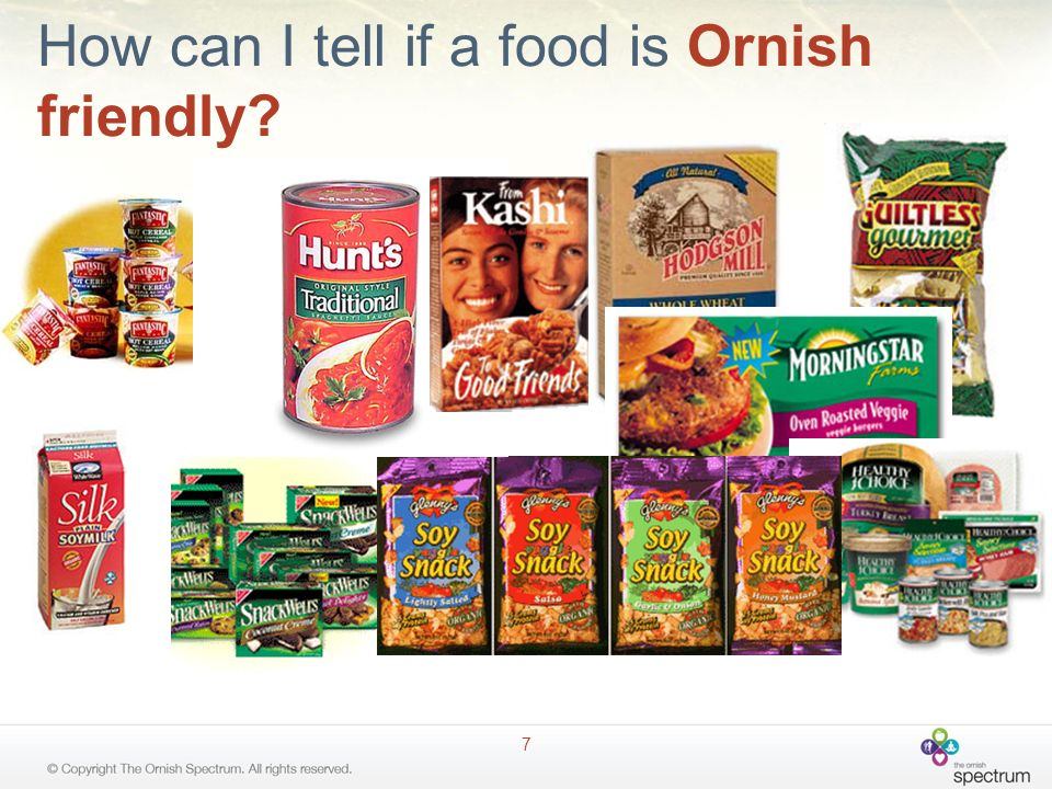 How can I tell if a food is Ornish friendly? 7