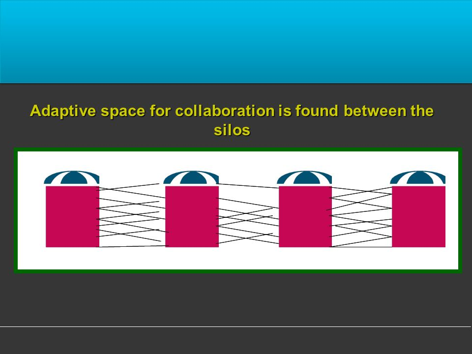 Adaptive space for collaboration is found between the silos