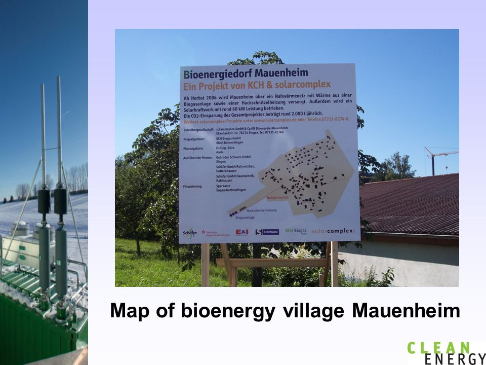 Map of bioenergy village Mauenheim