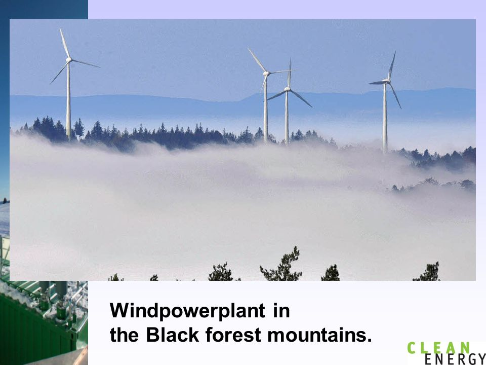Windpowerplant in the Black forest mountains.