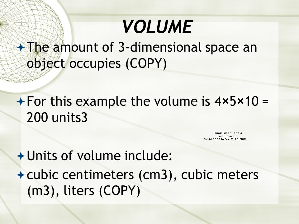 EXAMPLES OF DENSITY