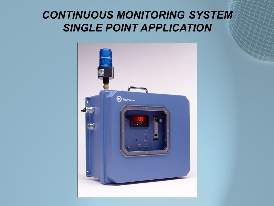 CONTINUOUS MONITORING SYSTEM SINGLE POINT APPLICATION