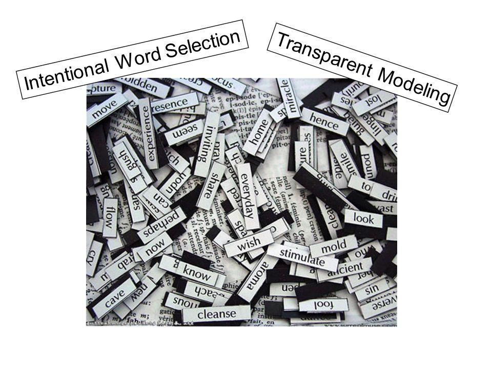 Transparent Modeling