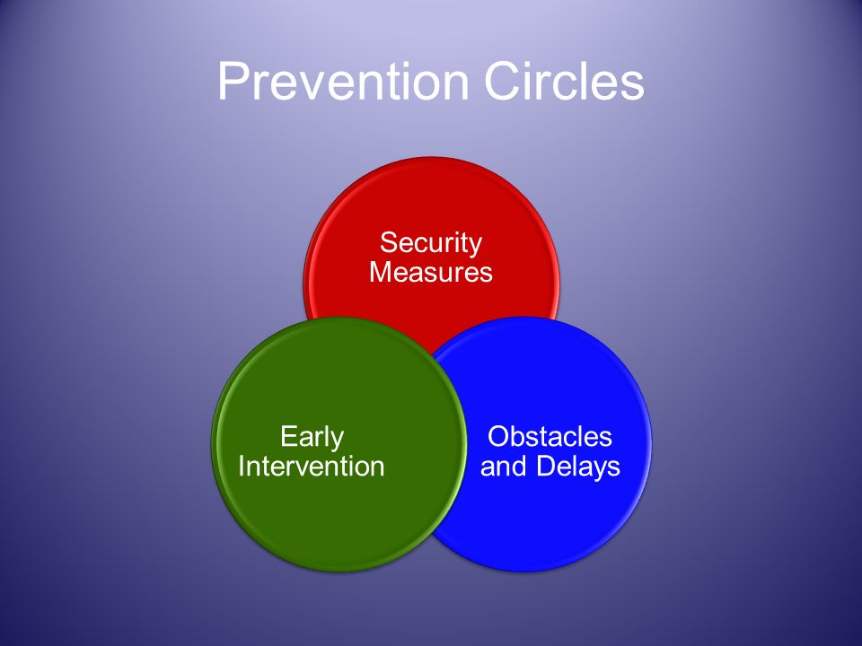 Prevention Circles Security Measures Obstacles and Delays Early Intervention