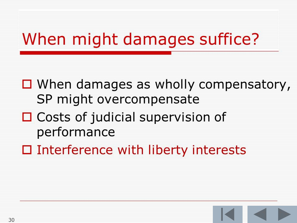 When might damages suffice.