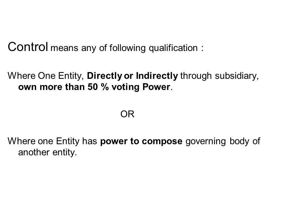 3.Subsidiary are of two types: Temporary Subsy Permanent Subsy 4.Temporary Subsidiary are not Consolidated.