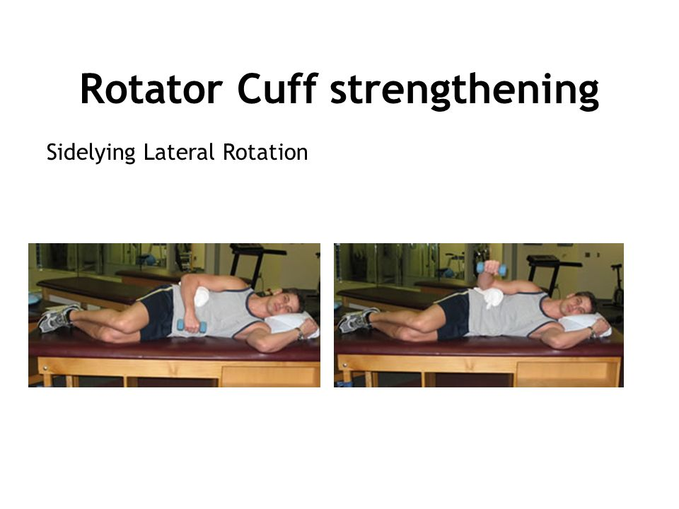 Sidelying Lateral Rotation Rotator Cuff strengthening