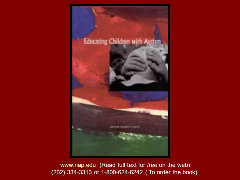 www.nap.eduwww.nap.edu (Read full text for free on the web) (202) 334-3313 or 1-800-624-6242 ( To order the book).