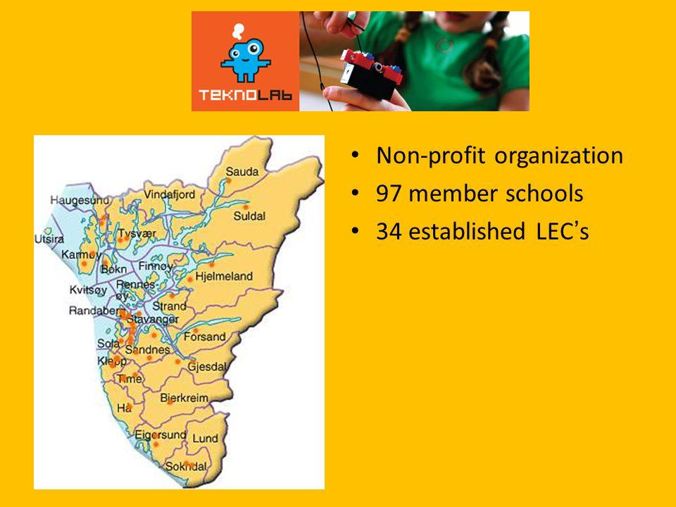 Non-profit organization 97 member schools 34 established LECs