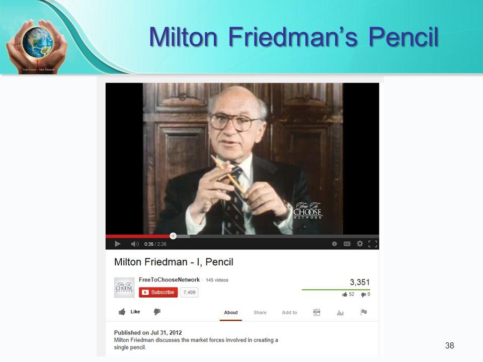 Milton Friedmans Pencil 38
