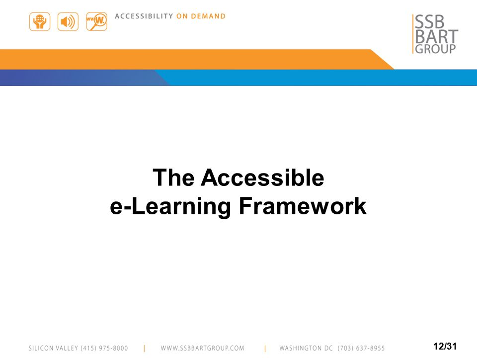 12/31 The Accessible e-Learning Framework