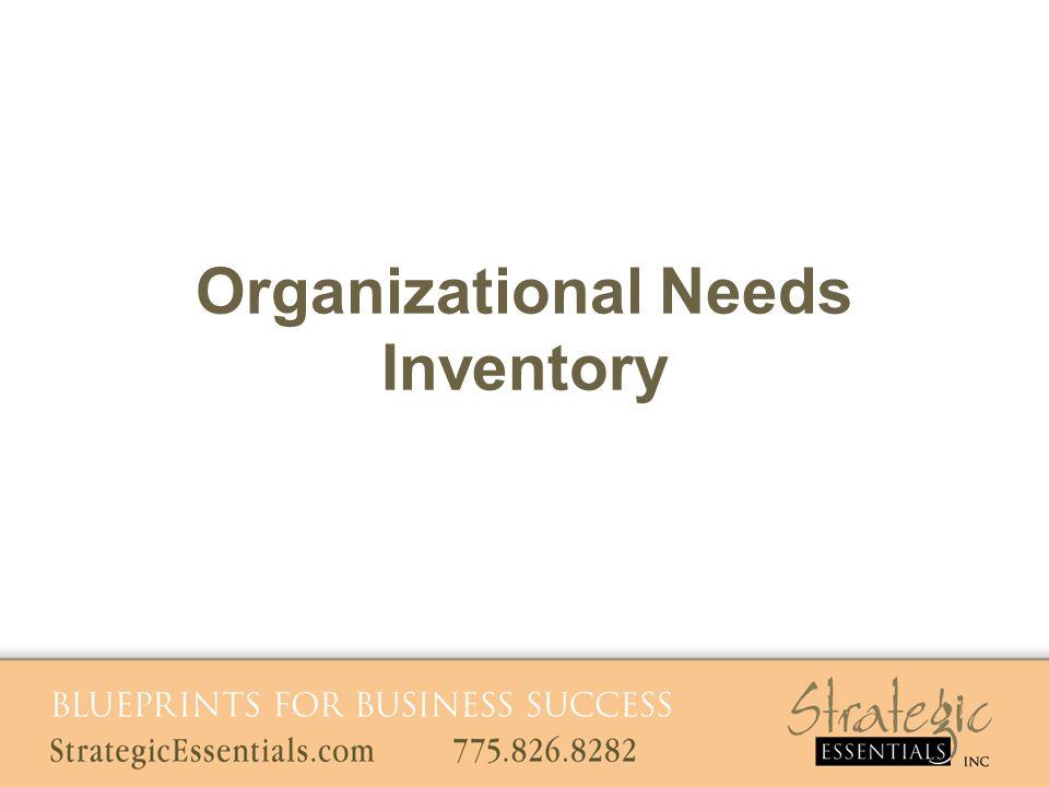 Organizational Needs Inventory