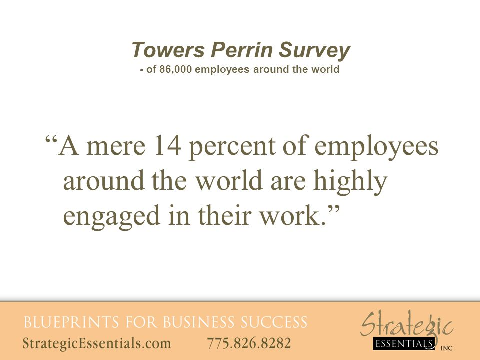 A mere 14 percent of employees around the world are highly engaged in their work.