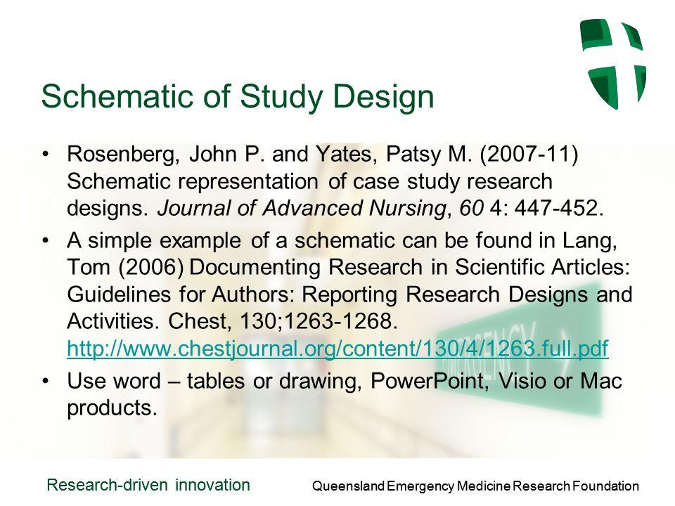 Queensland Emergency Medicine Research Foundation Research-driven innovation Queensland Emergency Medicine Research Foundation Research-driven innovation Schematic of Study Design Rosenberg, John P.
