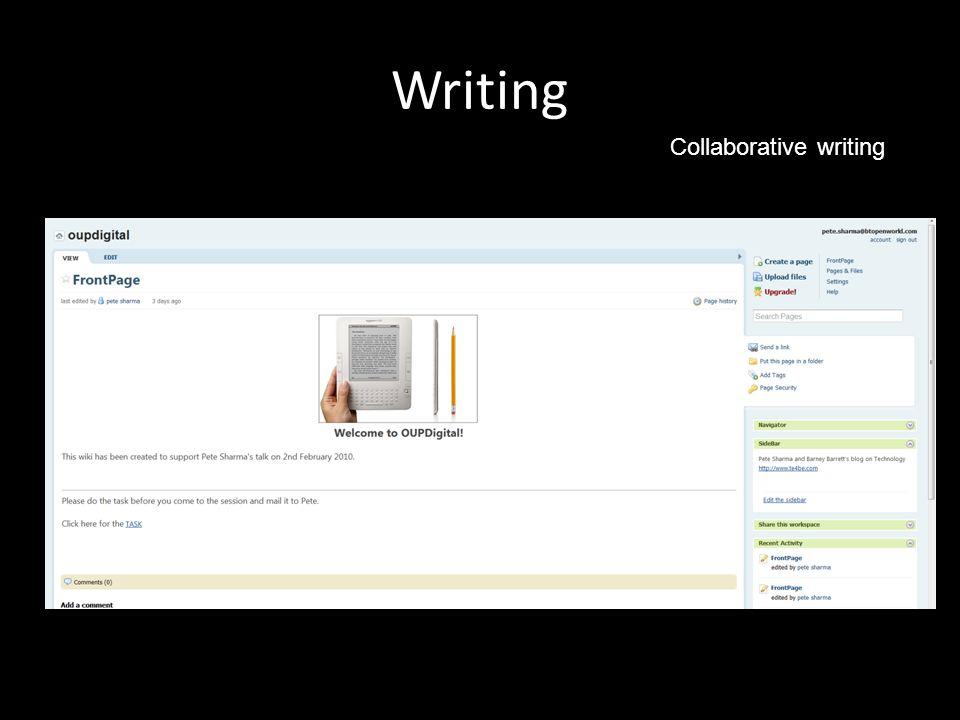 Writing Collaborative writing