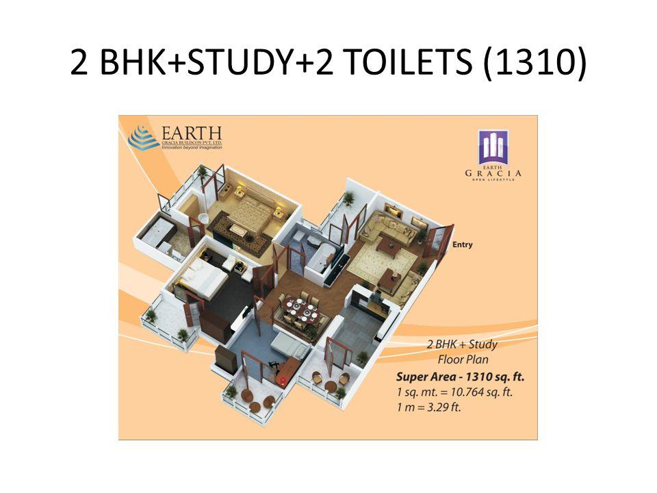 2 BHK+STUDY+2 TOILETS (1310)