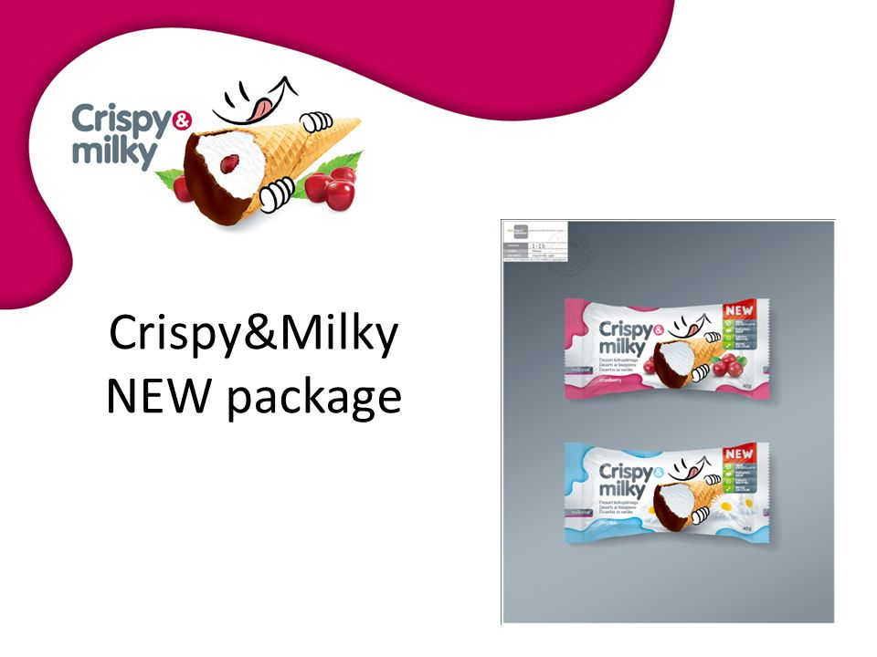 About product In 2010 European Dessert Group launched innovative and modern product on the European market - Crispy & Milky- cottage cheese dessert with various sorts of filling.