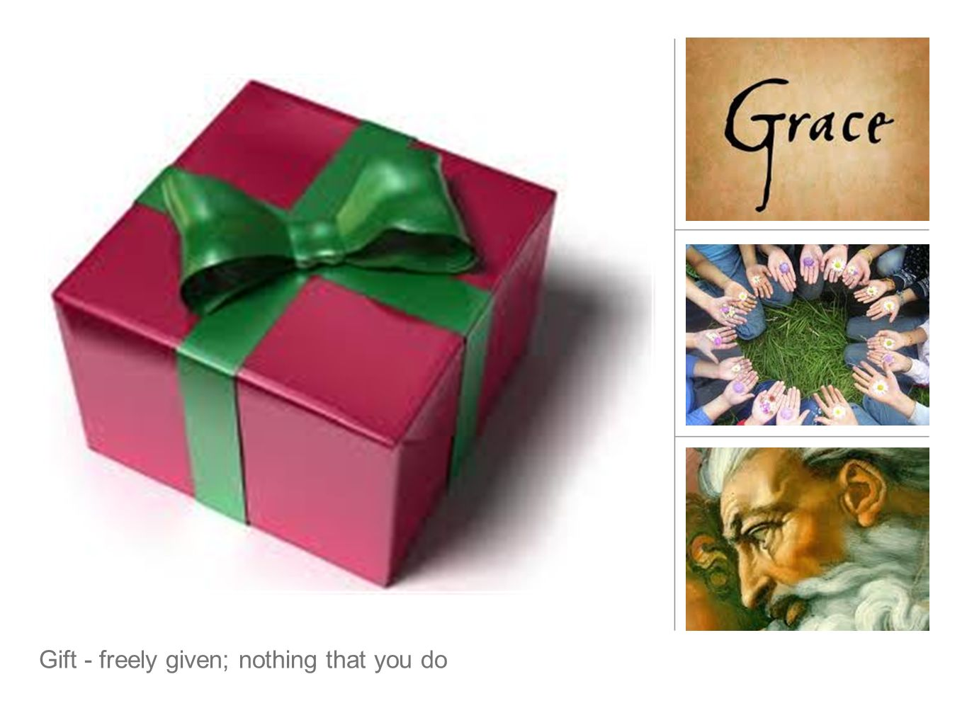 Grace - questions Grace is meant to be given.Who in your life - right now - needs grace from you.