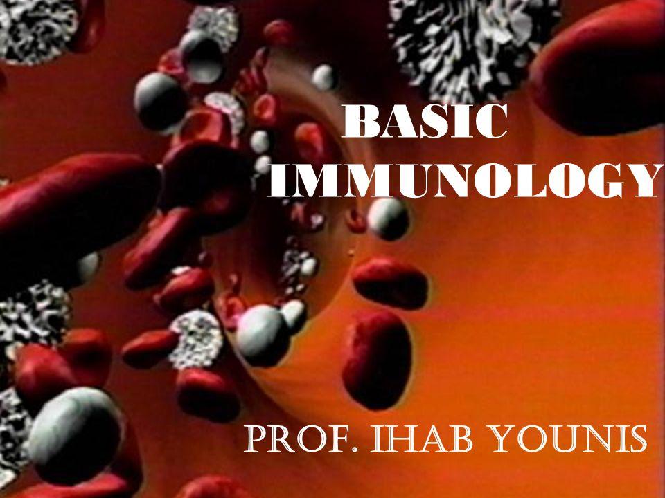 1 Prof. IHAB YOUNIS BASIC IMMUNOLOGY