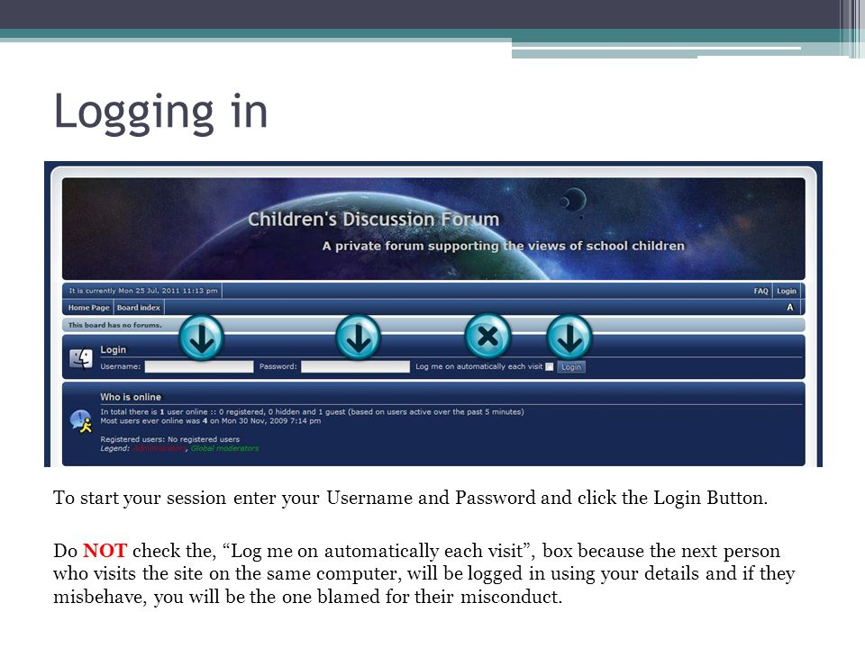 The forums chat room 1.To go to the chat room click on the, Chat, button.
