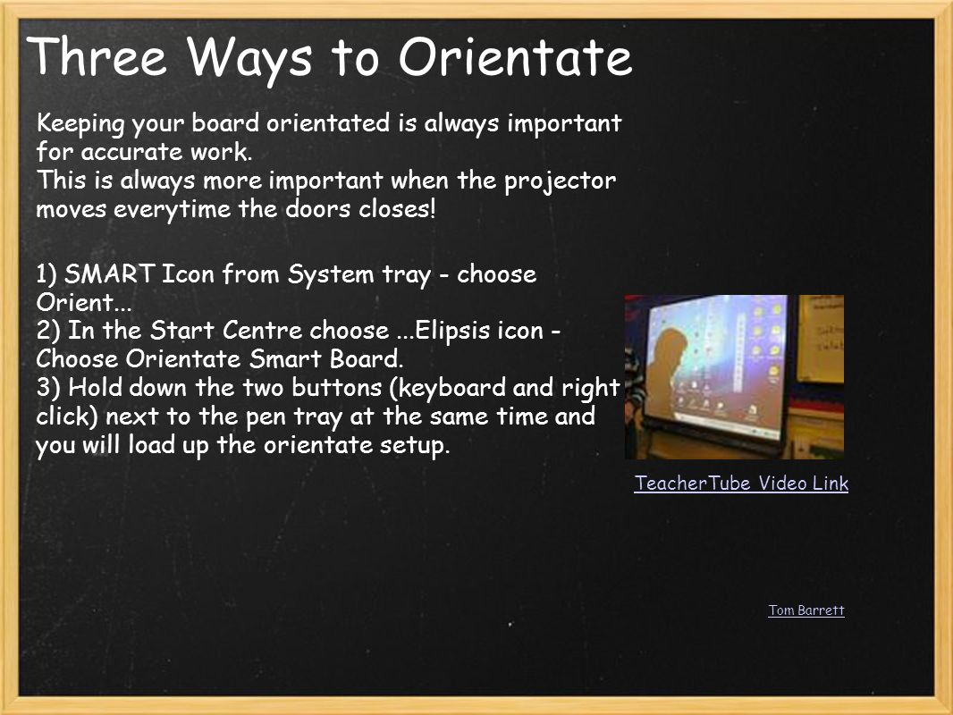 Three Ways to Orientate Keeping your board orientated is always important for accurate work.