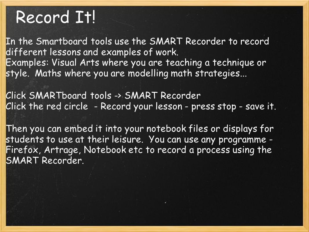 Record It.