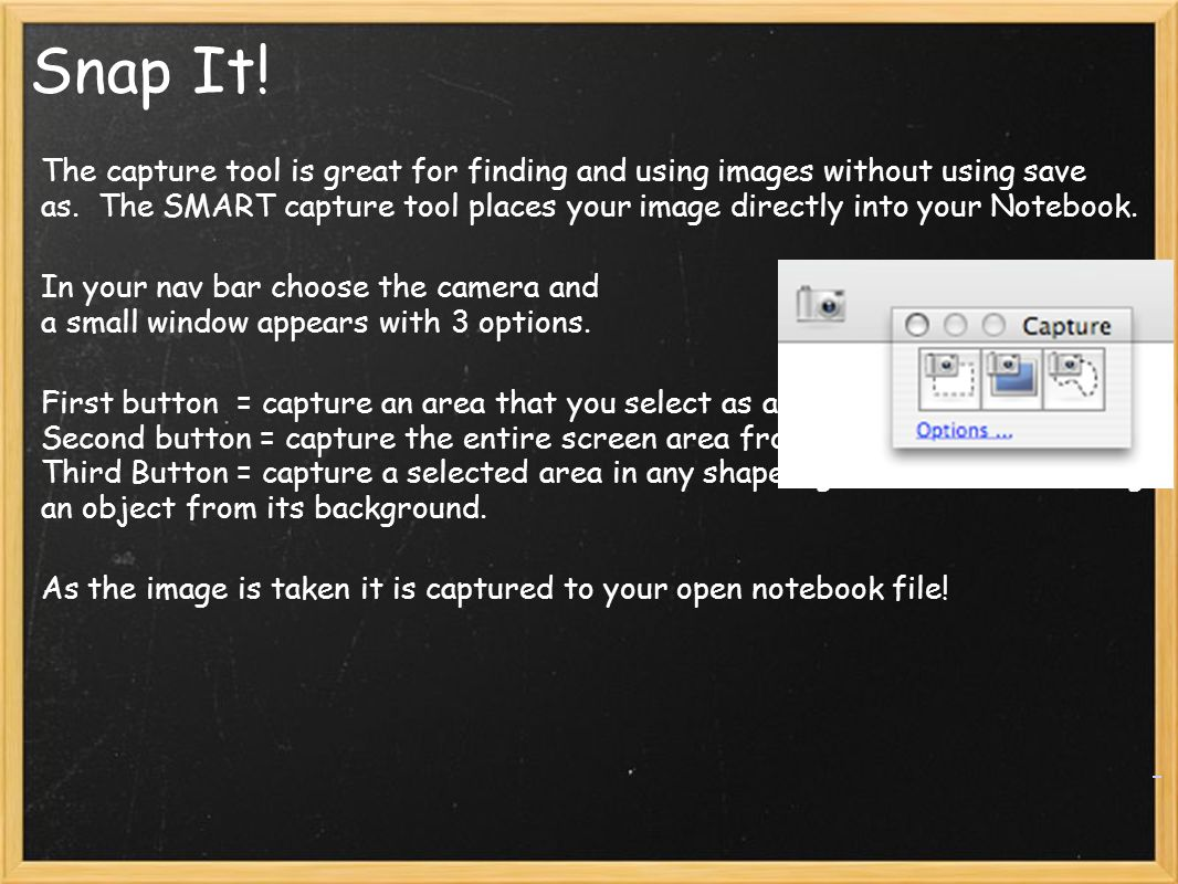 Snap It. The capture tool is great for finding and using images without using save as.